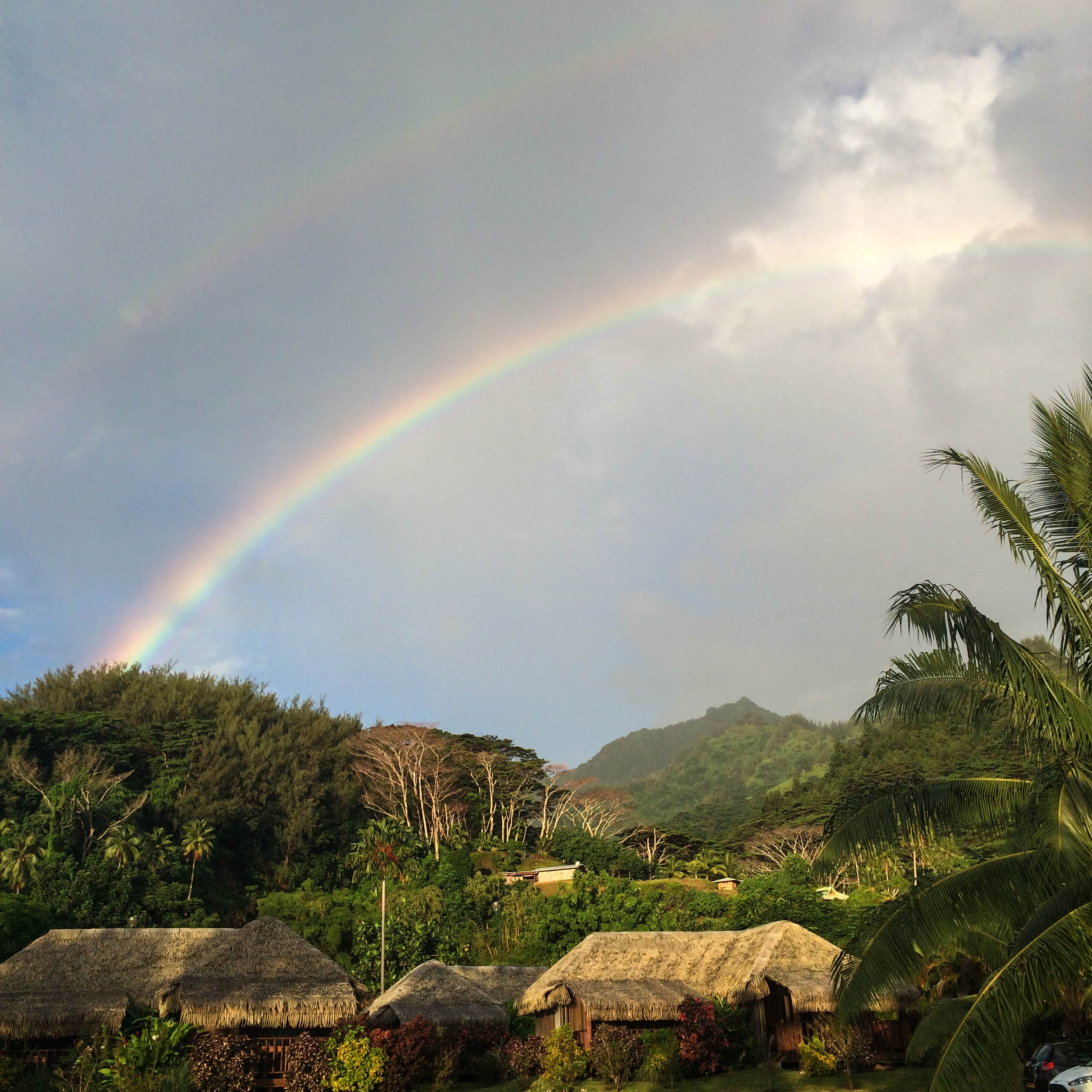 double rainbow on moorea