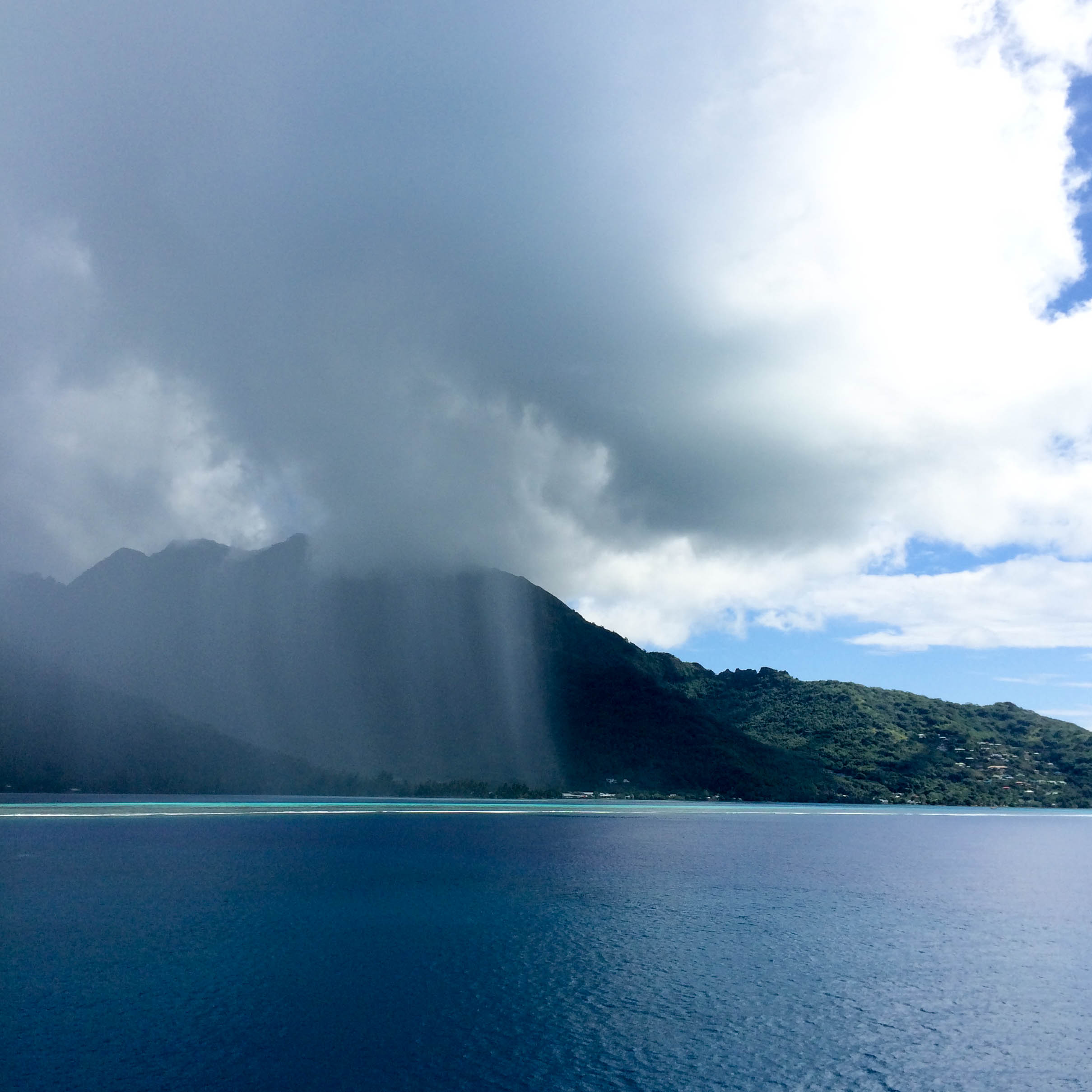 heading into rain moorea