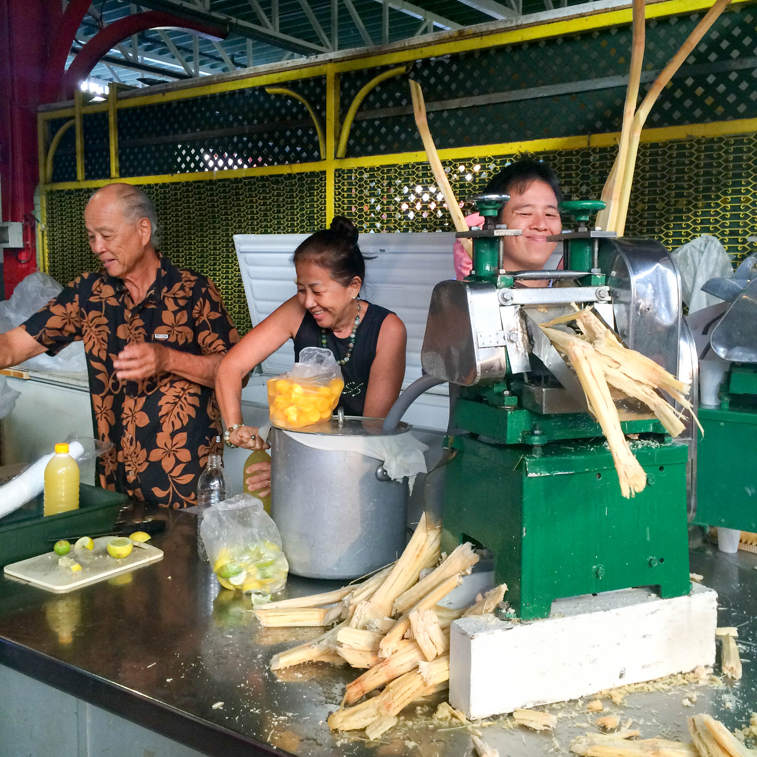 sugarcane juice in papeete