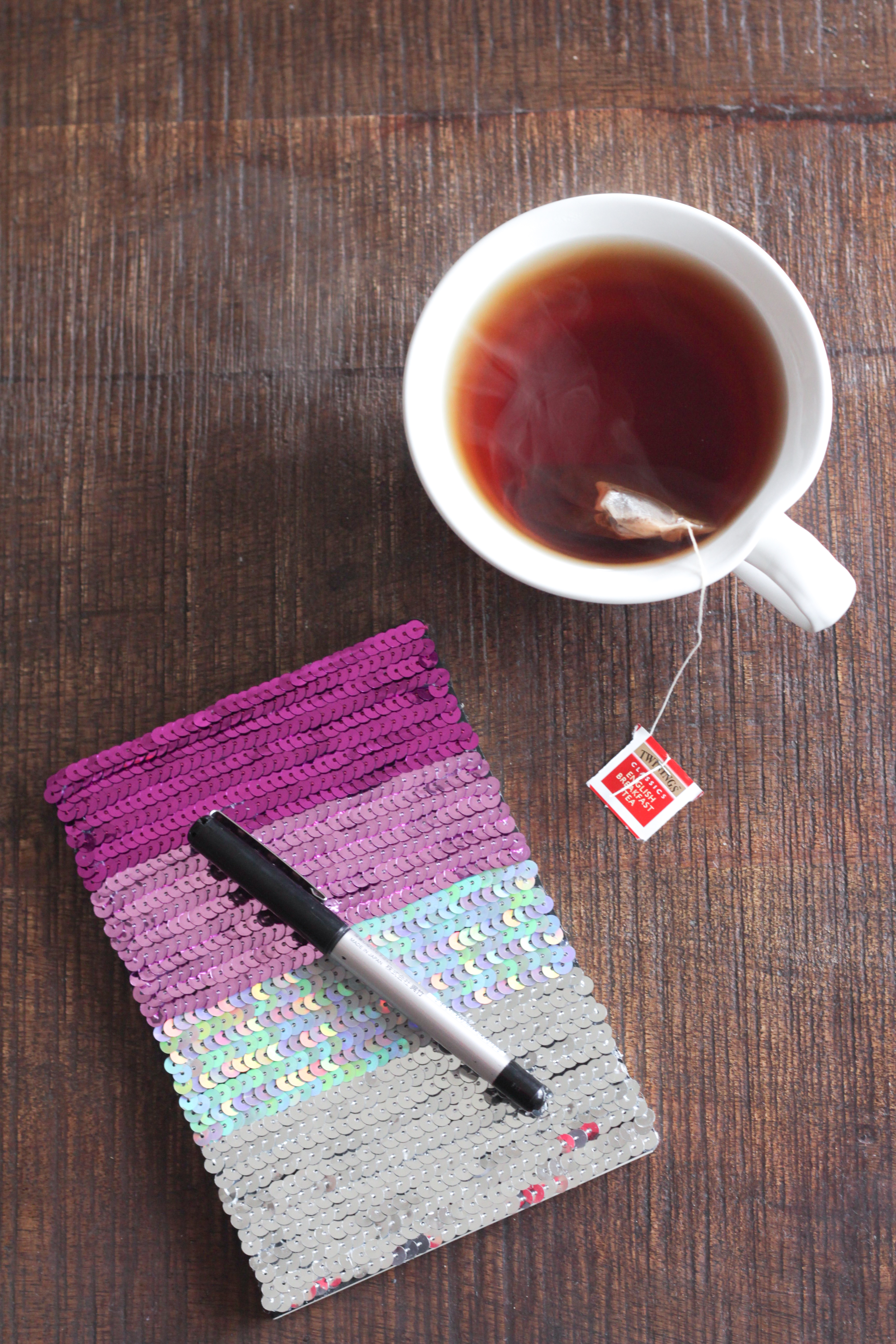 DIY Ombre Sequin Notebook | Alyssa & Carla-3