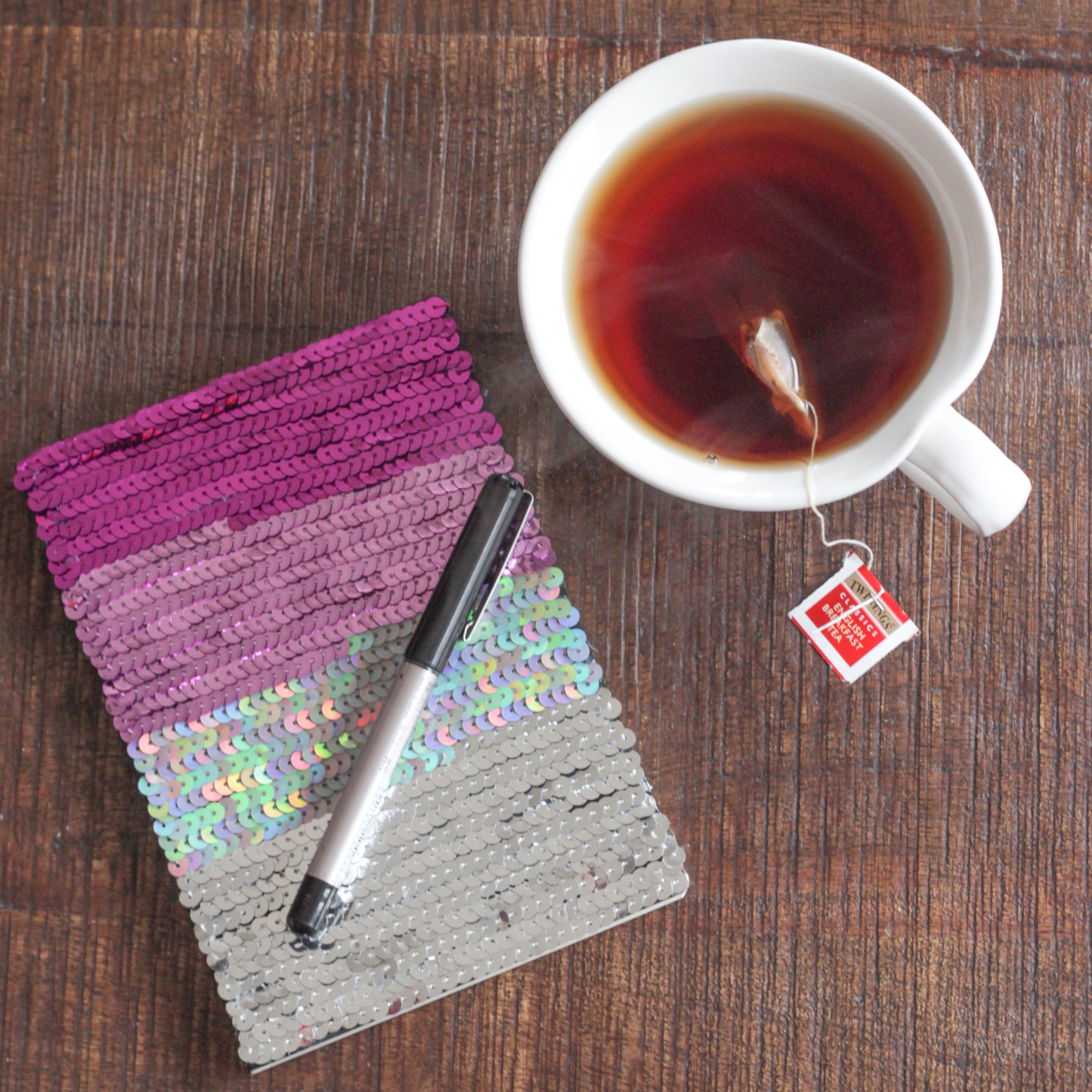 DIY Ombre Sequin Notebook | Alyssa & Carla-5