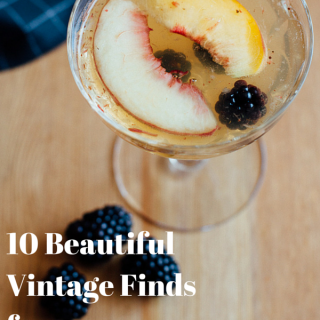 10 BeautiulVintage FindsforGorgeous Cocktails