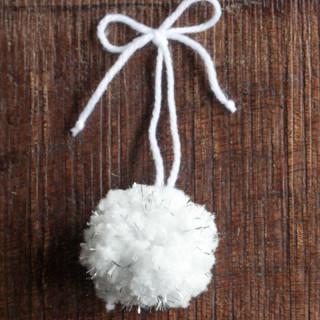 Tinsel Pom-Pom DIY Ornaments