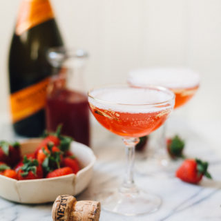 Fresh Strawberry Jus Sparkling Cocktails