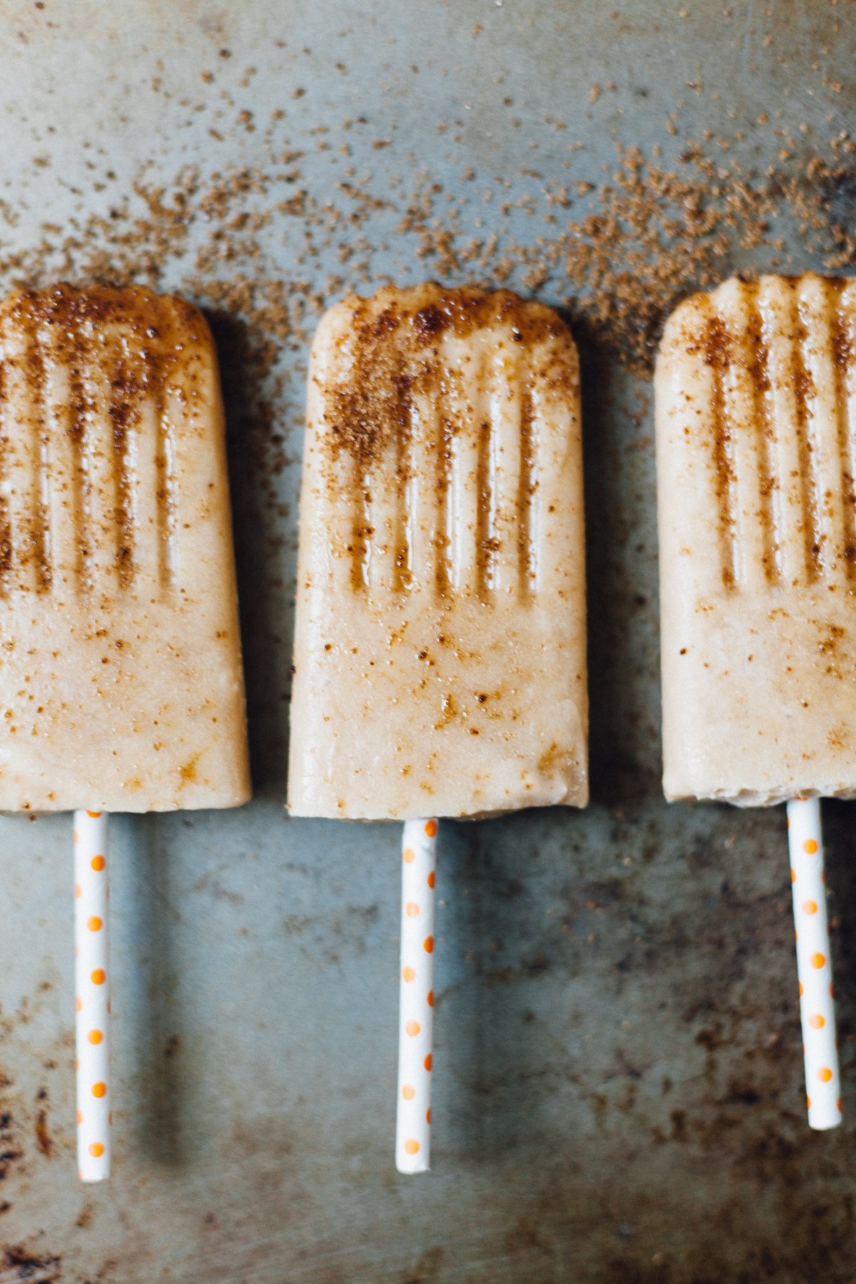 Roasted Peach and Brown Sugar Popsicles | Alyssa & Carla