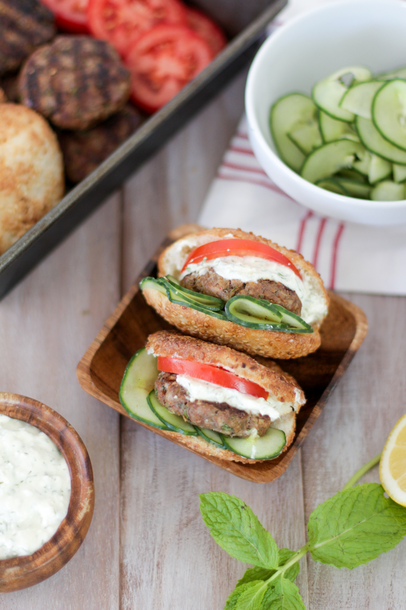 Greek Lamb Sliders | Alyssa & Carla