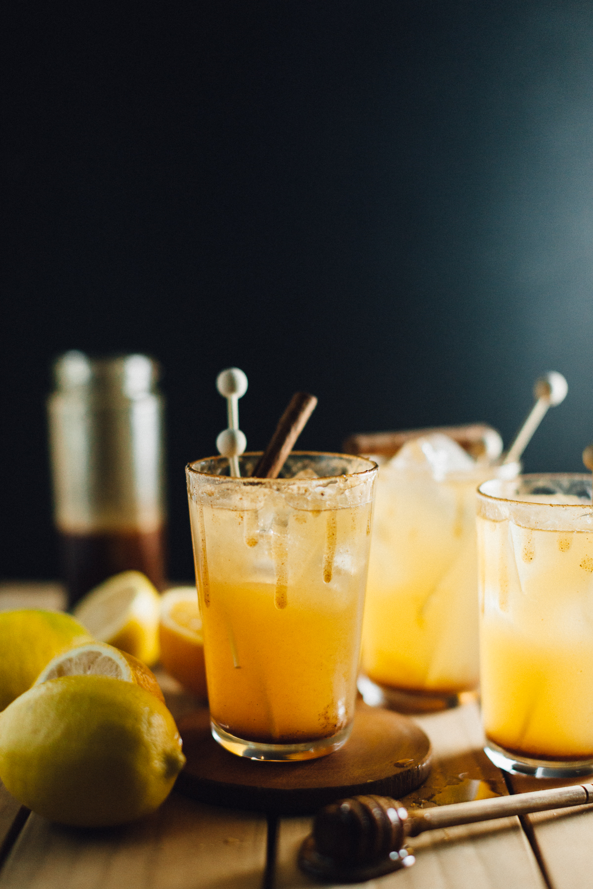Spiced honey and citrus cocktails with mixedwithtrop for Honey whiskey drink recipes
