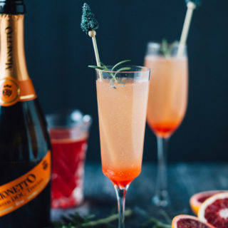 Blood Orange and Rosemary Sparkling Cocktail
