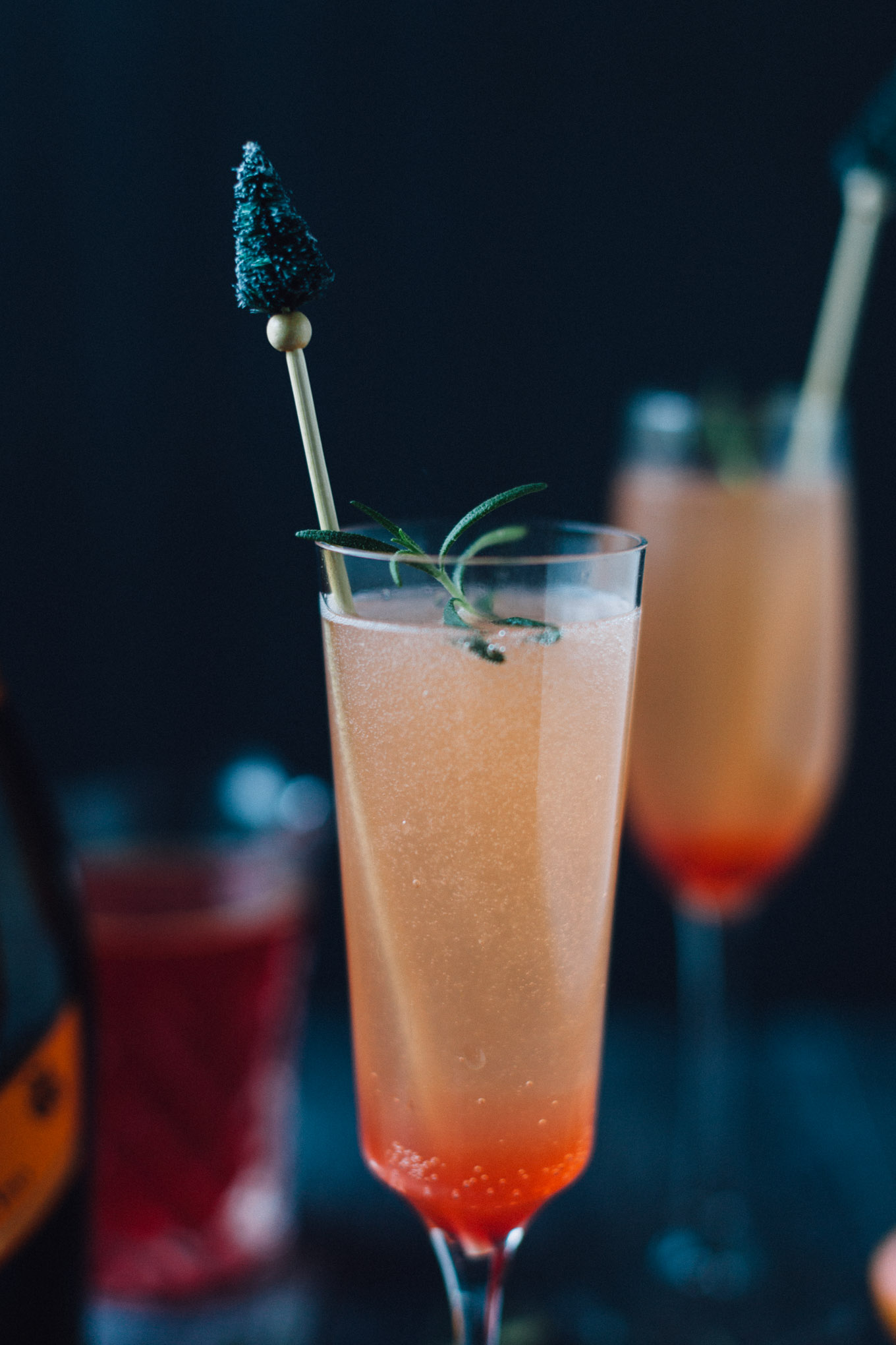 Blood Orange and Rosemary Sparkling Cocktails | Alyssa & Carla