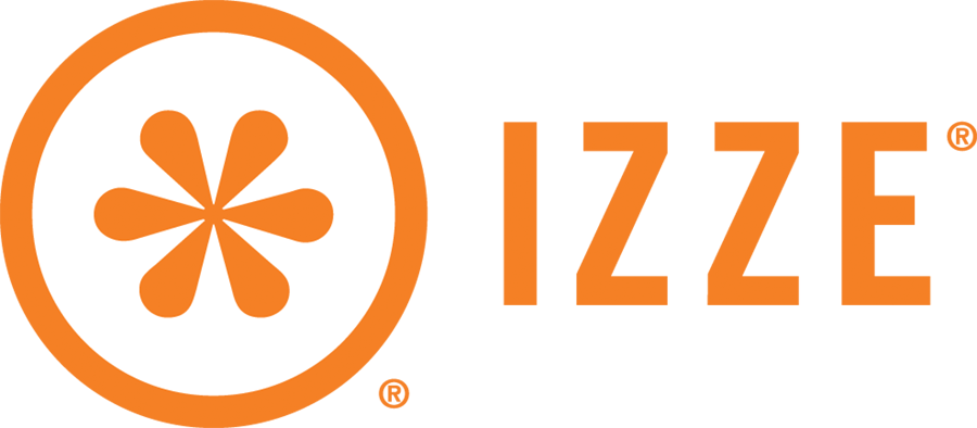 IZZE Logo Horizontal Orange