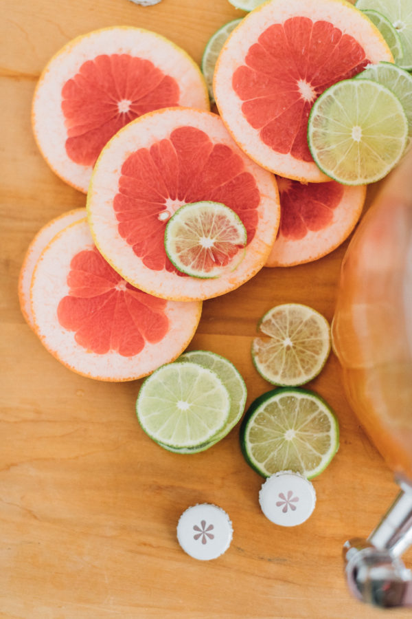 Grapefruit Ginger-Lime Punch Recipe | Alyssa & Carla