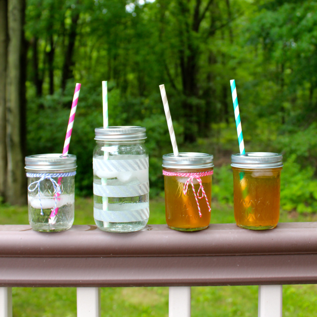 Diy Mason Jar Travel Cups