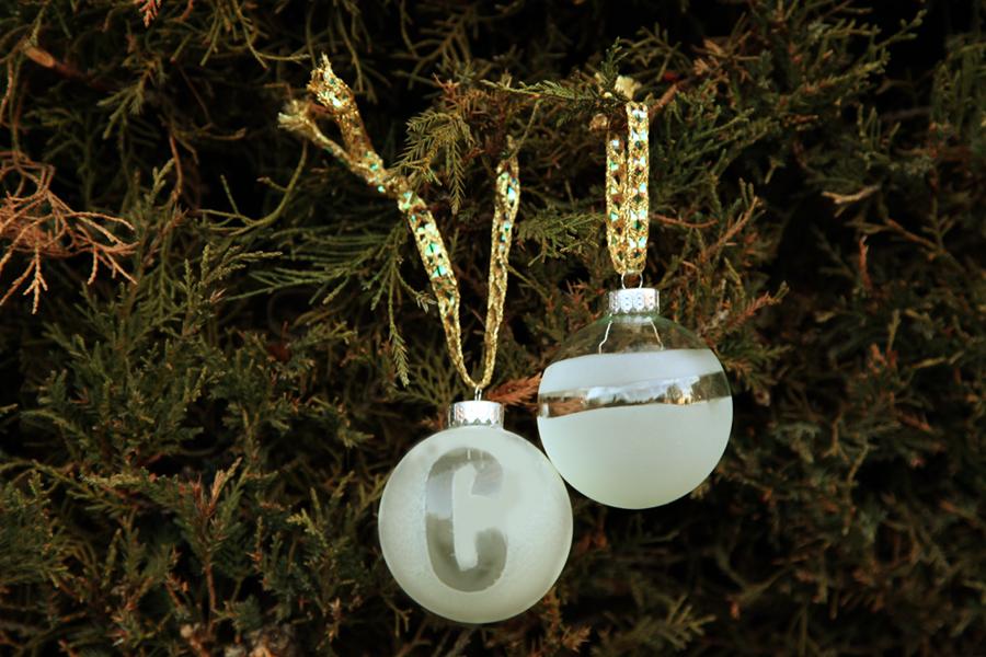Diy Monogram Etched Ornaments