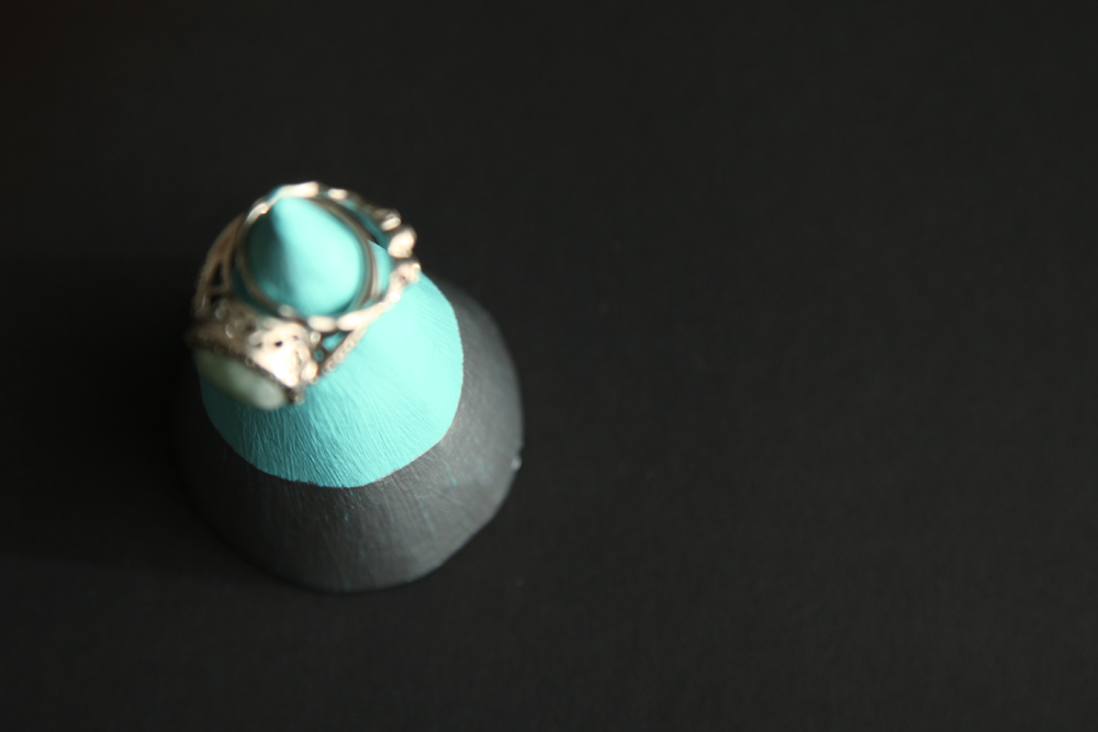 Ring cone  ring tree  ring keeper  ring holder UK  birthday gift for girl sister daughter friend  Blue ring cone  with glitter
