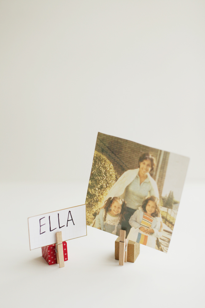 DIY Photo (or Place Card!) Holders - Alyssa and Carla