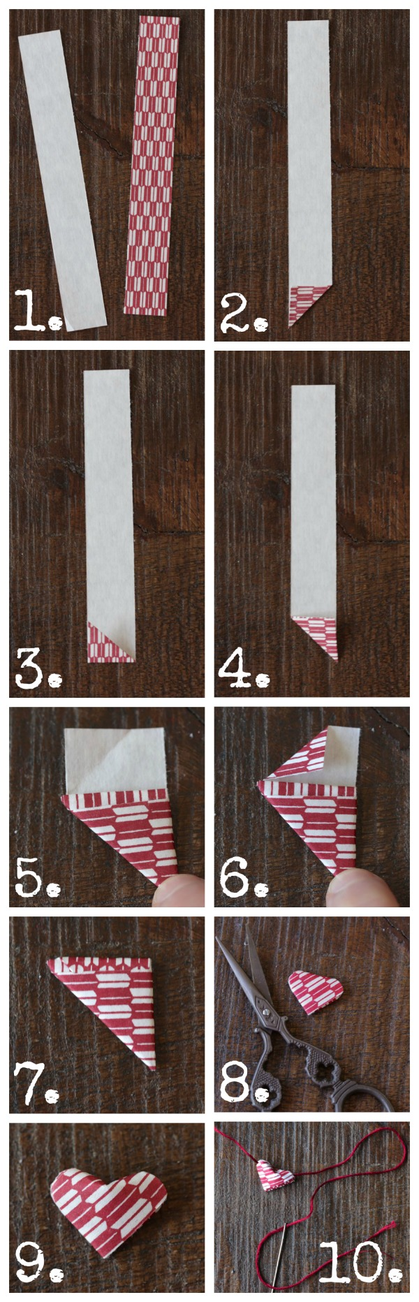 Origami Heart Pocket Instructions | Free Printable Papercraft ... | 1864x600