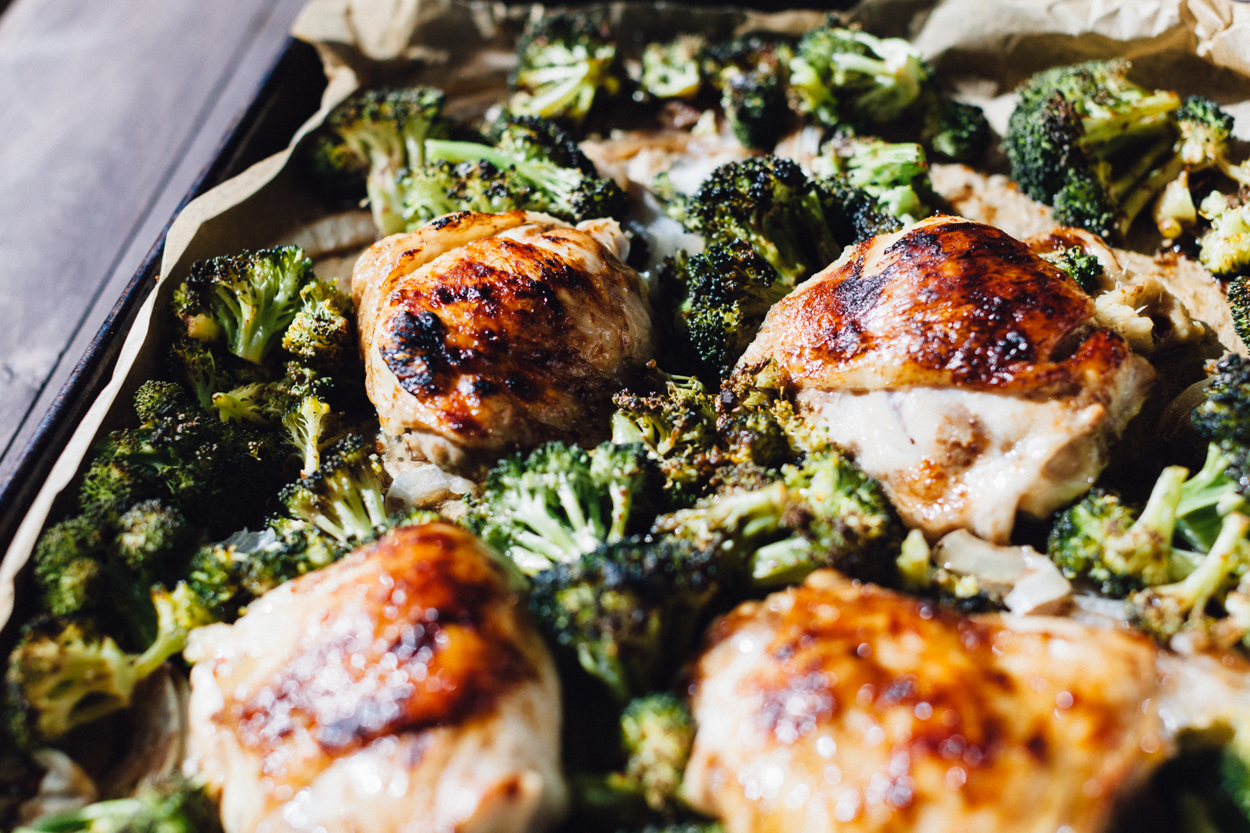 One Sheet Pan Balsamic Chicken with Roasted Broccoli